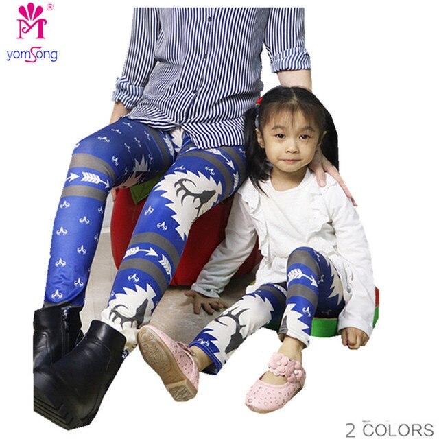Explosion Winter Digital Printing Leggings High Waist Elastic Mother And Children Leggings  Pencil Pants  2092