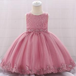 Платье на день рождения 1 год, детская одежда для девочек, детское вечернее платье принцессы, одежда с цветочным принтом для девочек Новогод...