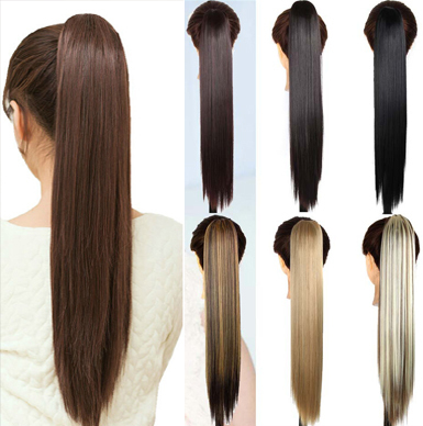 High quality 24inch long straight synthetic hair extensions high quality 24inch long straight synthetic hair extensions ponytail claw clip pony tail fake hair pad hairpiece on aliexpress alibaba group pmusecretfo Gallery