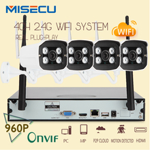 Sistema Plug & Play WIFI NVR 960 P 1080 P VGA/HDMI 4CH 1.3MP HD NVR KIT super señal Inalámbrica P2P WIFI Cámara IP A Prueba de agua CCTV kit