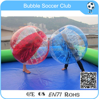 Бесплатная доставка 12 шт. (6red + 6 синий + 2 Воздуходувы) 1.5 м Надувные людской мяч, бампер мяч, пузырь Футбол, пузырь Футбол, zorb