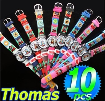 free shipping wholesale superman watch quartz cartoon children 3d watch 1pcs Free Shipping Wholesale Thomas Tank Engine Watch,3D Cartoon Quartz Watch 10pcs/set &Promotion children Watch
