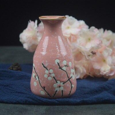 Японский ликер горшок Ретро керамика теплые емкость для ликера дистрибьютор бытовой маленькие белые вина флакон китайский barware Сакура - Цвет: 8