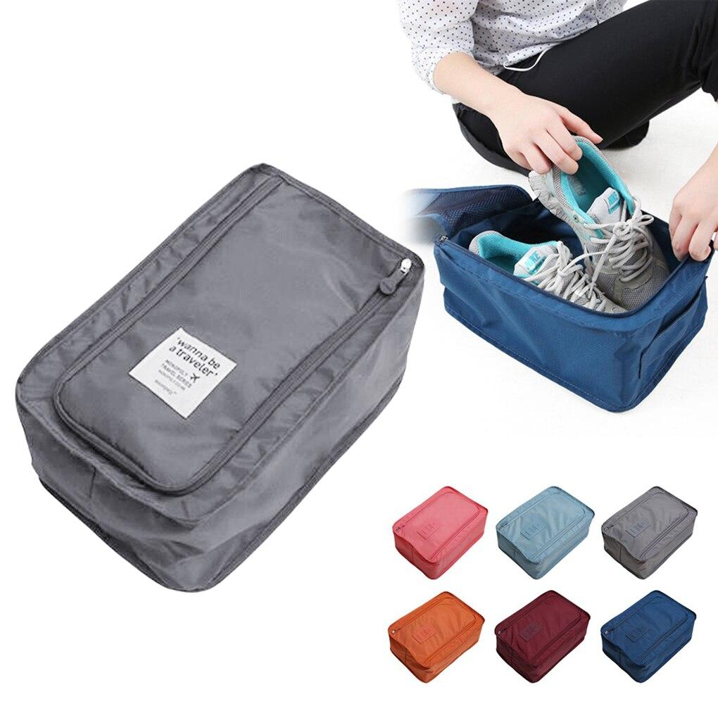 Convenience Travel Storage Bag Nylon 6 Colors Portable Organizer Bags Shoe Sorting Pouch Hot Sale