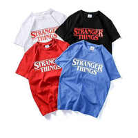 2018 STRANGER THINGS Chompe monster badge T shirt MEN Casual tshirt homme STRANGE THING t-shirt no glue feeling Clothing Tops