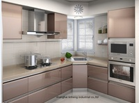 High gloss/lacquer kitchen cabinet mordern(LH-LA043)
