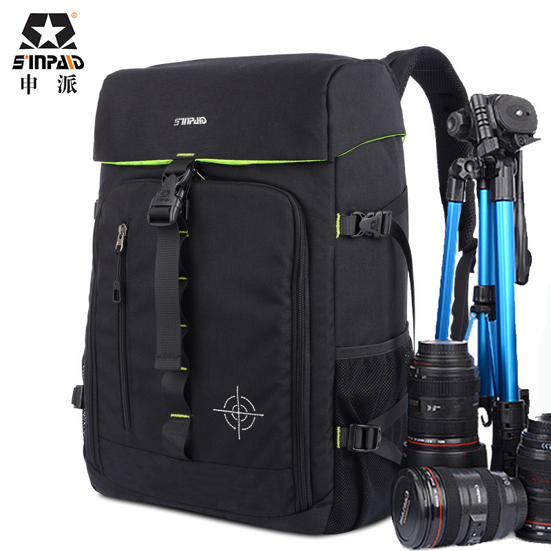 SINPAID Anti-theft Digital DSLR Photo Padded Camera Backpack With Rain Cover Waterproof Laptop 15.6 Soft Bag Video Case-50 sinpaid anti theft digital dslr photo padded camera backpack with rain cover waterproof laptop 15 6 soft bag video case 50