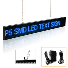 66CM P5 SMD 16 * 128 pixel Led Sign Android Phone WIFI Remote Control Programmable Scrolling Message Advertising display board p5 smd led sign android phone wifi remote control programmable scrolling message time led display board red