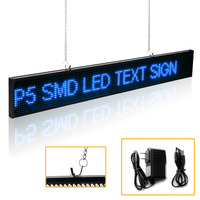 66CM P5 SMD 16 * 128 pixel Led Sign Android Phone WIFI Remote Control Programmable Scrolling Message Advertising display board