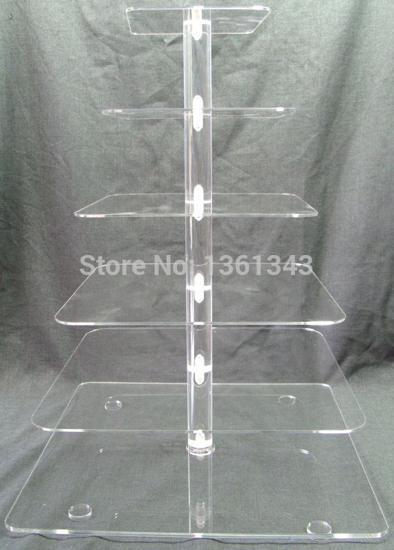 Sable Cheapest !Square Clear 6 Tier Acrylic Wedding Cake Stand Cupcake Display Stand For Birthday Party decorationSable Cheapest !Square Clear 6 Tier Acrylic Wedding Cake Stand Cupcake Display Stand For Birthday Party decoration