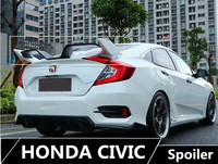 High Quality Spoiler For Honda Civic 2016 2017 2018 2019 Wing Spoilers Brand New ABS Car Modification Accessories TYPER Model