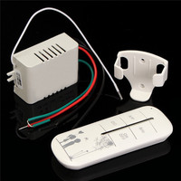 315MHz 1CH 3 Way Port ON OFF 220V Lamp Light Digital Wireless Wall Remote Control Switch