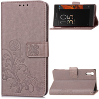 For Sony Xperia XZ Leather 3D Card Holder Stand Magnetic Flip Wallet Case For Sony XZ XR Back Protector Phone Cover