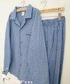 Классический мужской сна комплект весна и осень тепловые 100% двусторонний флис салон комплект