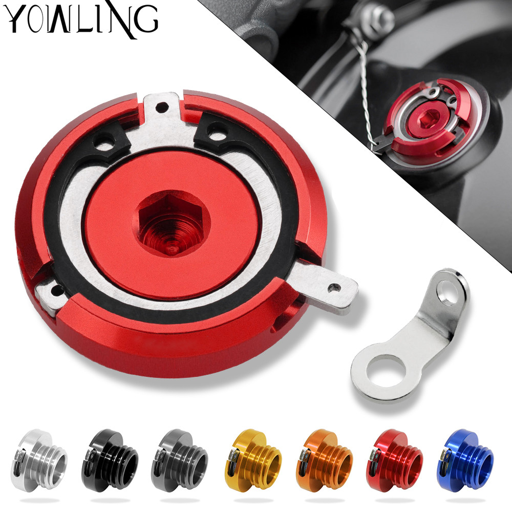 M20*2.5 Motorbike CNC Engine Oil Filler Cup Cap Cover Bracket for kawasaki ER-6N/ER-6F ER6N 2009 2010 2011 2012 2013 2014 2015