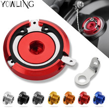 M20*2.5 Motorbike CNC Engine Oil Filler Cup Cap Cover Bracket for kawasaki ER-6N/ER-6F ER6N 2009 2010 2011 2012 2013 2014 2015 все цены