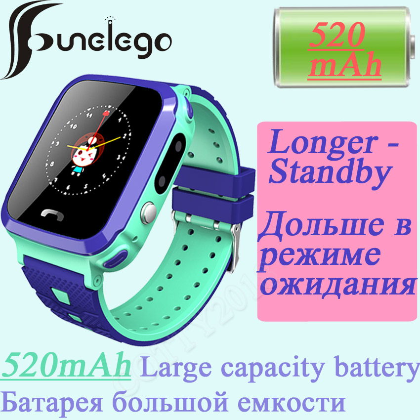 Funelego Large Battery Child GPS Watch HD Touch Screen Smart Watch Phone For Kids SOS Waterproof Resistant Swimming SeTracker