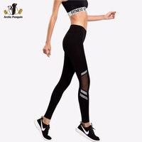 [AP] Frauen Sport Leggings Fitness Laufhose Mesh Patchwork Yoga Hosen Verständnis Leggings Quick Dry Dünne Hosen