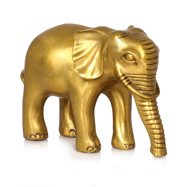Office Home House Efficacious Protection Talisman Money Drawing Good Luck Thailand Golden Elephant Br Statue