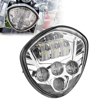 Motos accessories Chrome 60W Victory Motorcycle led headlight lamps for 2007-2015 Cross Country Tour,Cross Roads