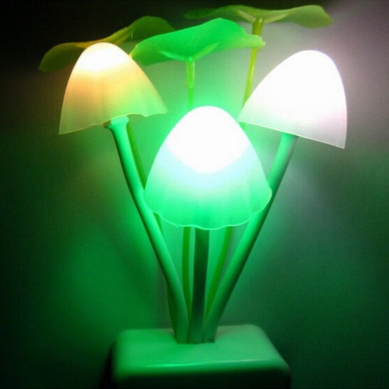 led night lights Novelty Night Light US Plug Induction Dream Mushroom Fungus Luminaria L ...