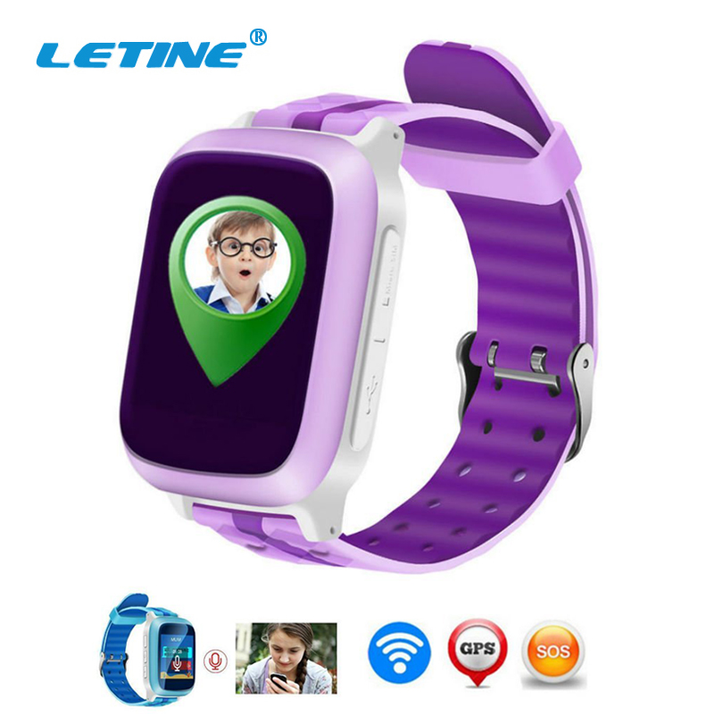 Letine Smart Baby Watch Kids Children's Smartwatch GSM Clock with SIM GPS WIFI SOS for Connect Android iOS Phone PK Q50 Q80 Q90 ds18 waterproof smart baby watch gps tracker for kids 2016 wifi sos anti lost location finder smartwatch for ios android pk q50