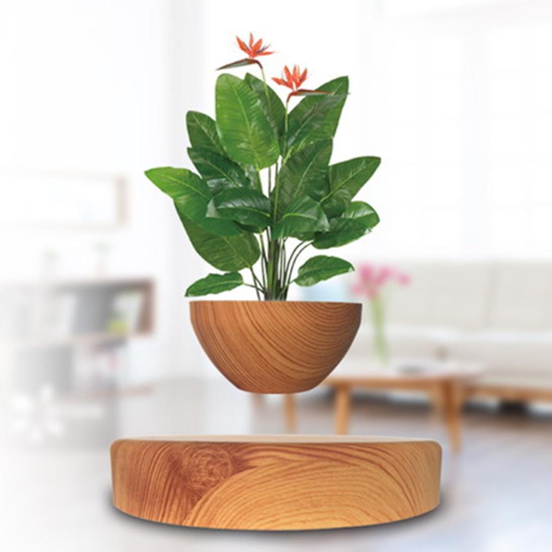 VICTMAX Magnétique Lévitation Air Bonsaï Décor Art En Pot Ciel Succulent Plantpot Géomancie Ornements Avec NOUS/EU Plug Creative Cadeau