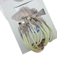 New Arrival Luminous Fishing hooks Authentic Barbed Hook With Fishing Line Overturned Fish Hook 12# 14# 16# 18#