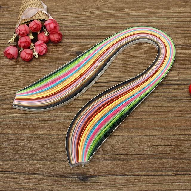 KiWarm New 180 Stripes 36 Colors Paper Quilling Paper DIY Decoration Handmade Card Flower Crafts Origami Paper 3mm 5mm 7mm 10mm
