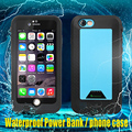 2in1external banco power pack caja de batería de buceo impermeable para iphone 6 6 s plus