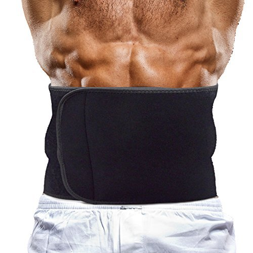 PRAYGER Neoprene Slimming Sauna Waist Cinchers Men Slimming Belt Tummy Trimmer Band  Shapewear Belt 1