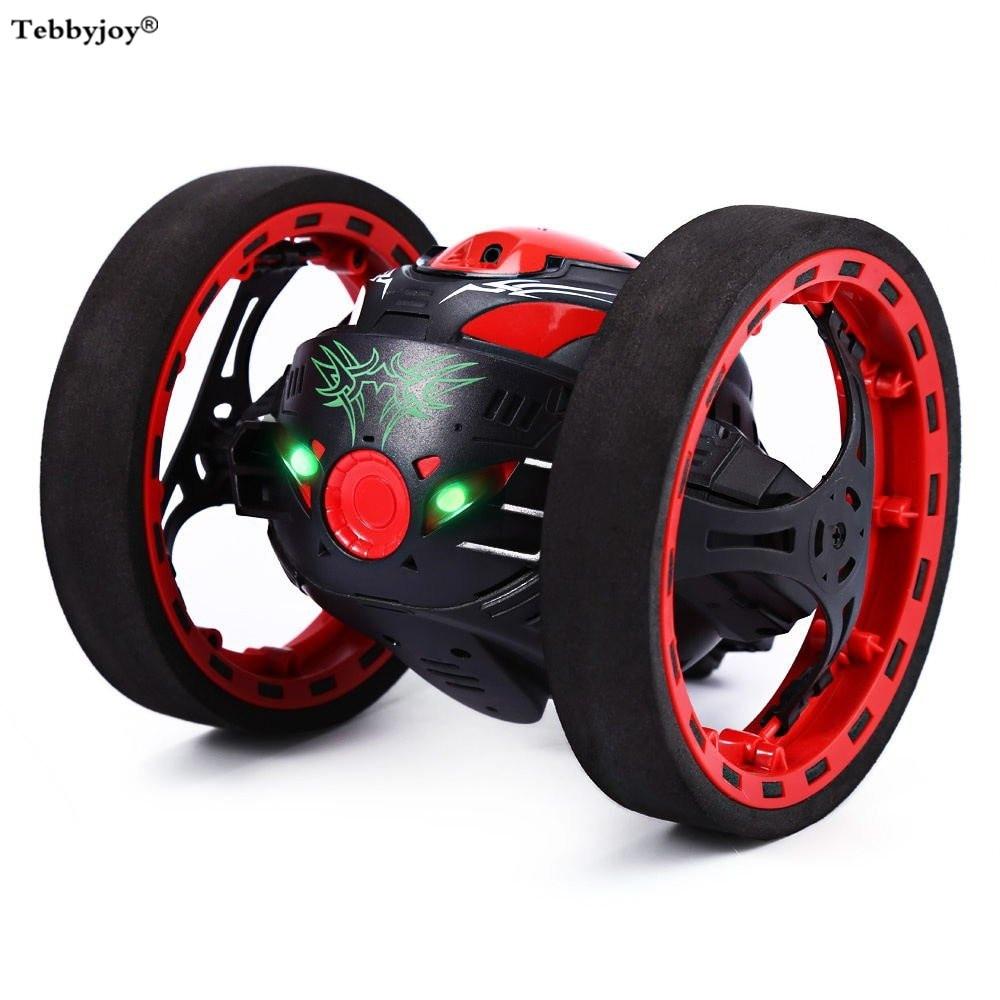 Удаленный Управление вышибала 2,4 г RC автомобиль Drone высоко прыгать Bouncewith гибкие диски светодиодный свет музыки автоматической балансировки...
