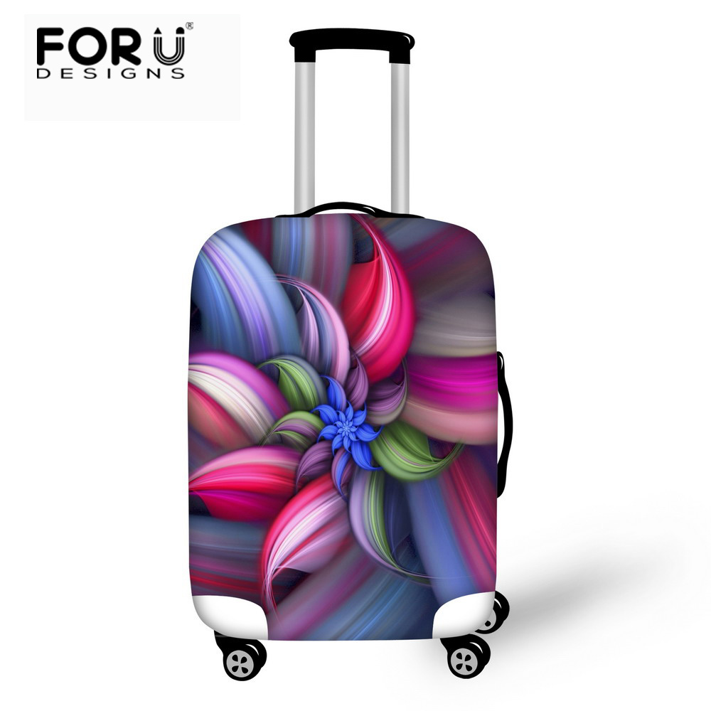 FORUDESIGNS Luggage Protective Case Beautiful Flower Waterproof Cover For 18-30 Inch Trolley Suitcase Elastic Travel Rain Covers