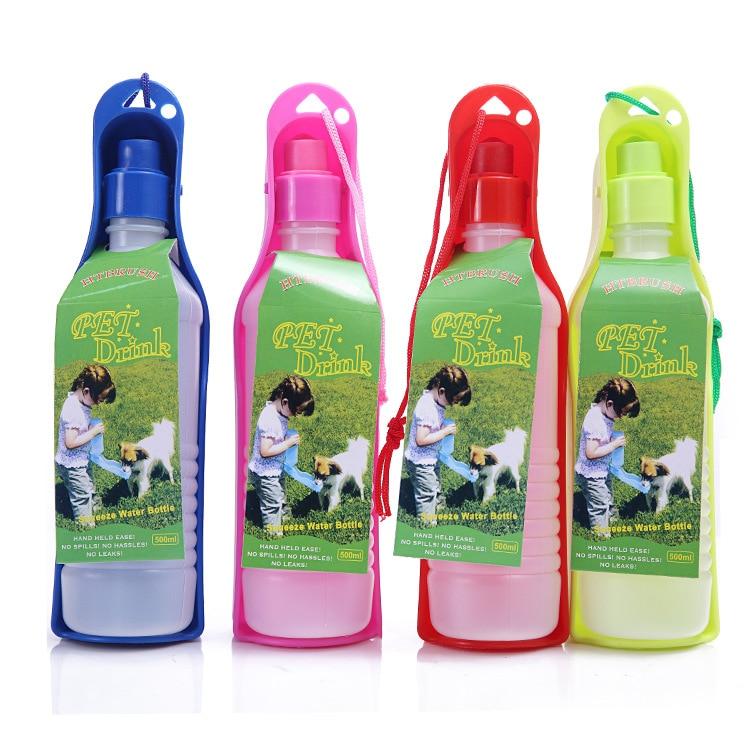 Plastic Pet Travel Water Drinking Bottle Portable Pet Dog: 250ml Pet Dog Water Bottle Plastic Portable Water Bottle