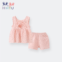 HHTU Casual Spring Summer Girls Clothing Vest Pants Sets Newborn Infant Baby Clothes Sleeveless Casual Soft