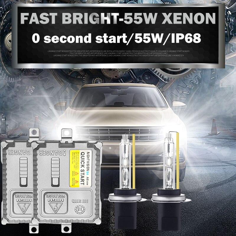 AC 12 V 55 w rapide brillant xénon h1 h3 h7 h11 hb4 hb3 9012 caché phare h8 h9 9005 9006 5500 k