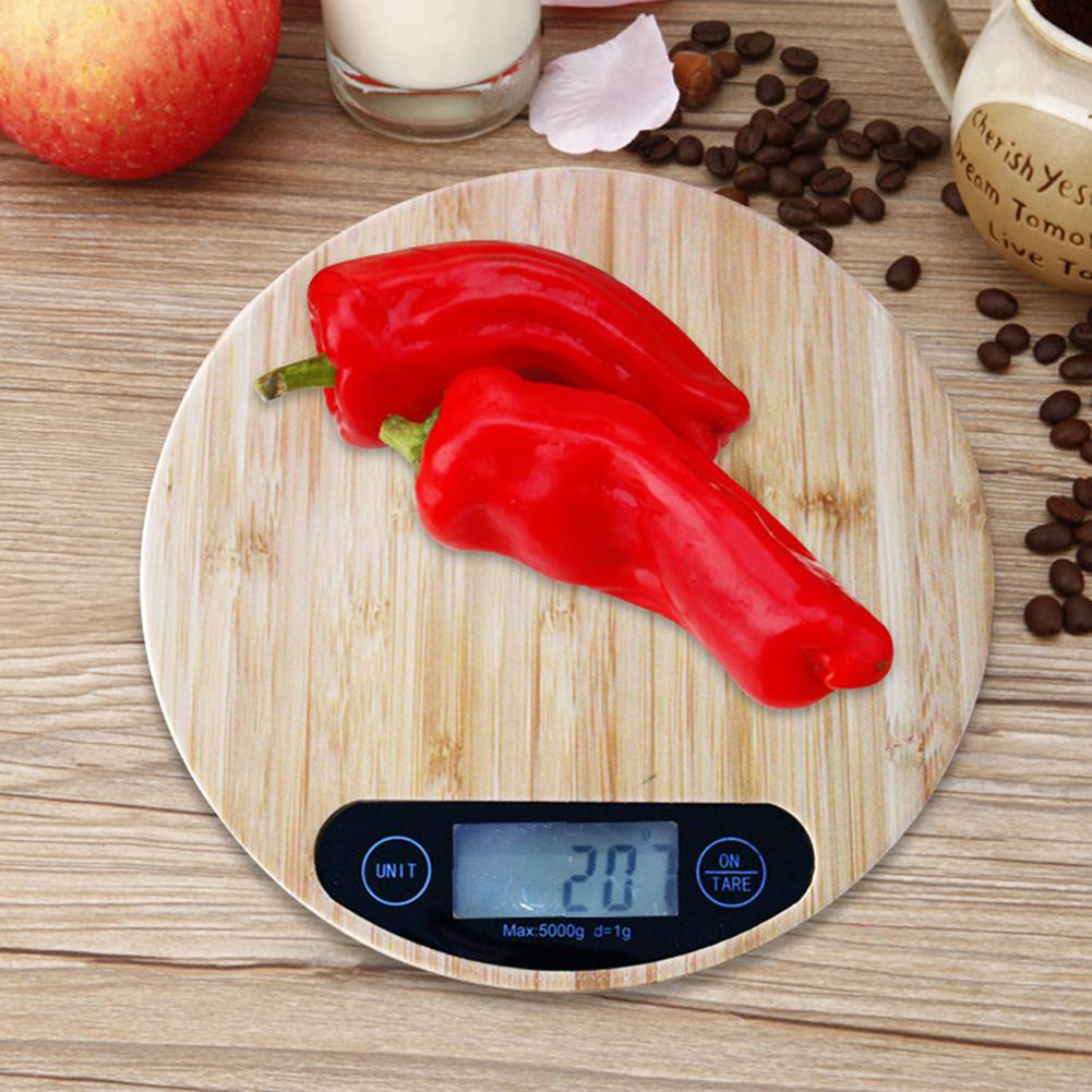 Bamboo Wood Grain Scale Precision Electronic Scale Baking Scale 5kg Electronic Kitchen Scale