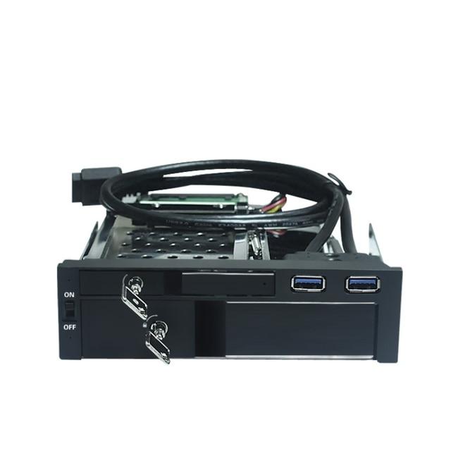 "All aluminum casing 2.5"" & 3.5"" dual bay SATA HDD/SSD muti-function tray caddy internal  hdd case"