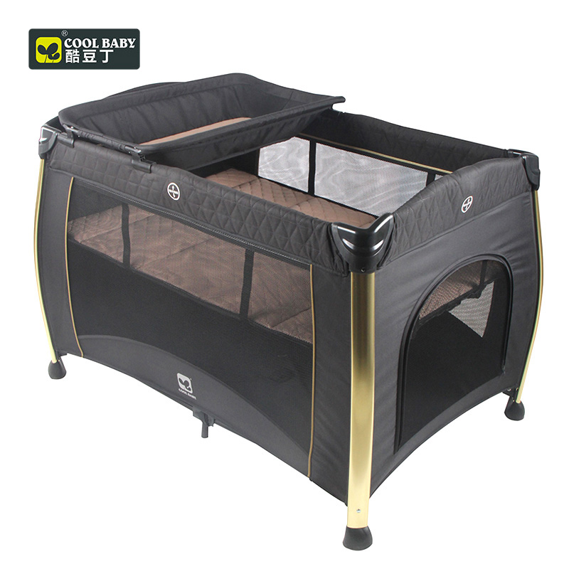 Coolbaby P070 Baby Bed With Fence Baby Cot High Quality Foldable Easy To Carry Summer Travel