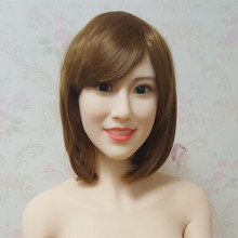 #92 tpe doll head mold for big size love doll 135cm-170cm body, realistic doll accessories, adult doll heads for crafts
