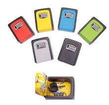 Настенный ящик для хранения с запасными клавишами и 4 значным