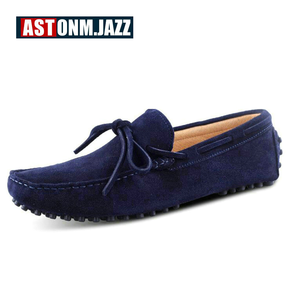 Men's Branded Casual Suede Penny Loafers Slip on Driving Shoes Leather Dress Shoes Boat Shoes Men Casual Flat Leather Shoe