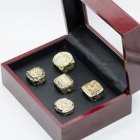 Drop Shipping Replica Championship Rings 5pcs Set 2000 2001 2002 2009 2010 Lakers Basketball Championship Ring