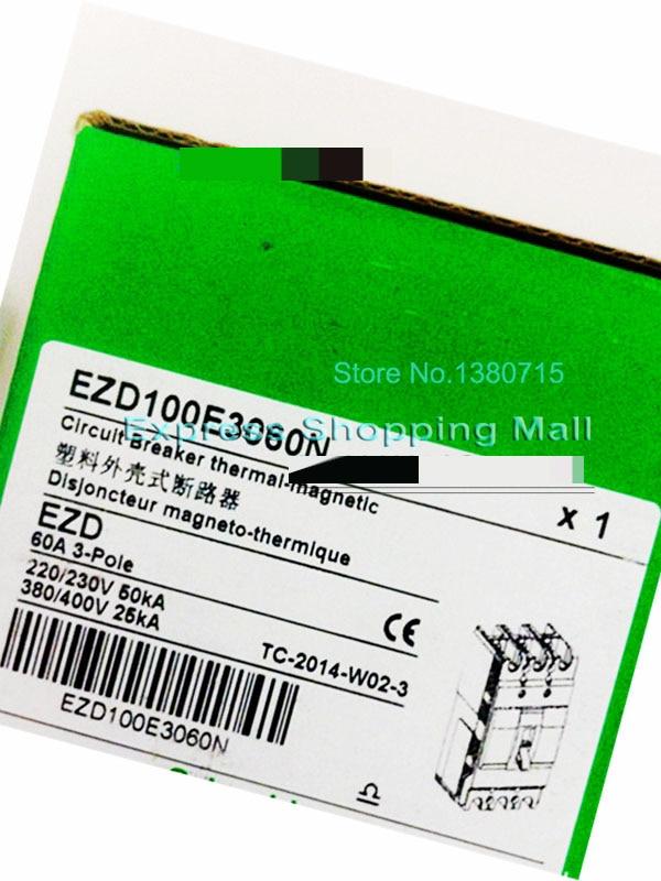 New EZD100E 3P 60A EZD100E3060N Plastic Breaker new ezd100e 3p 80a ezd100e3080n plastic breaker