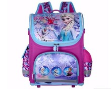 2016 Kids School Backpack Hello Kitty Princess Anna Elsa Bag Folded Orthopedic Children School Bags for Girls Mochila Infantil