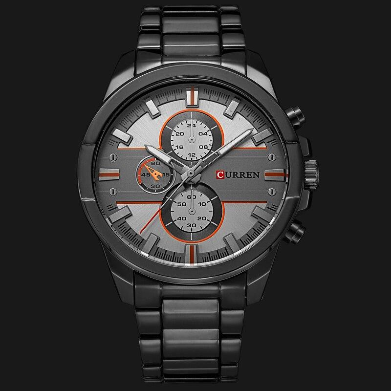 Image 2 - New Curren Luxury Brand Watches Men Quartz Fashion Casual Male Sports Watch Full Steel Military Watches Relogio Masculinomasculinomasculinos relogiosmasculino watch -
