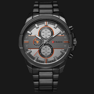Image 2 - 新しいカレン高級ブランド腕時計男性クォーツのファッションカジュアル男性スポーツ時計フルスチールミリタリー腕時計レロジオmasculino