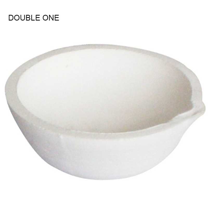 DOUBLE ONE Jewelry Workbenches Tools 100g Ceramic Crucible Bowl Dish Cup Furnace Melting Casting Refining Gold Silver 62x23mm