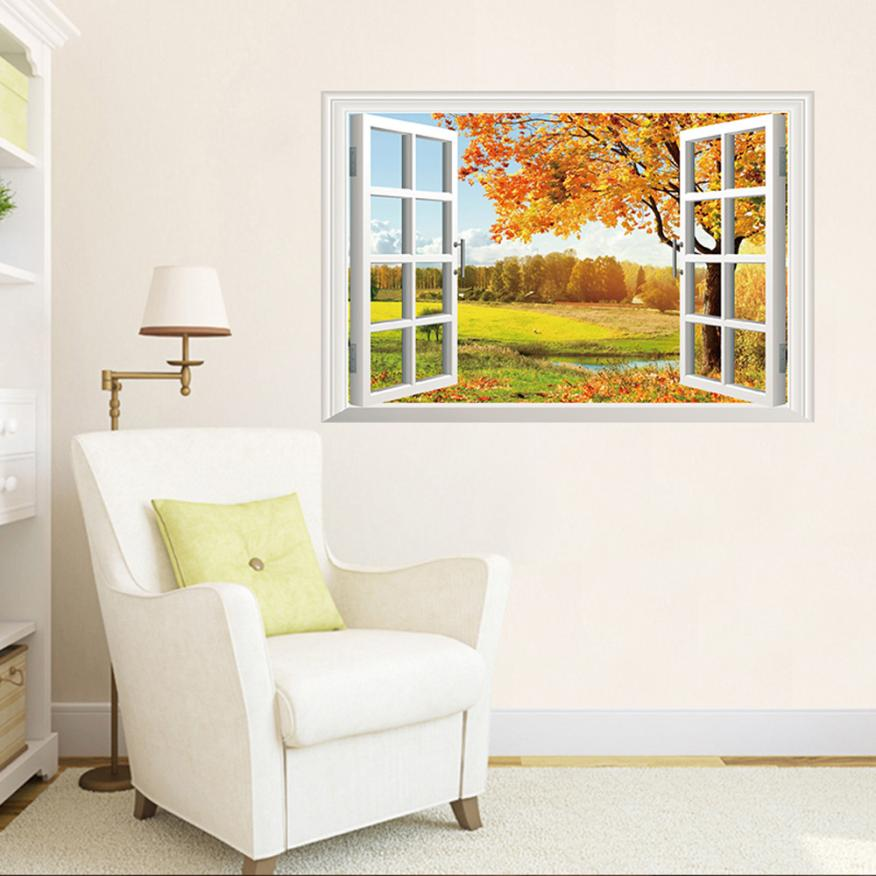 New Qualified Wall Stickers 3d Window View Art Home Decor Wall