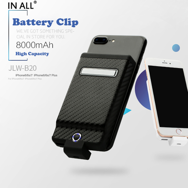 info for 417d0 be951 US $22.99  In All 8000 mAh Universal Battery Clip Case For iPhone 7 7 Plus  6s Plus Power Cover For iPhone 6 Plus Backup Charger Capa Fundas-in Battery  ...